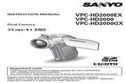 三洋 VPC-HD2000EX 说明书