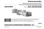 Panasonic 松下 AG-HPX500 使用说明书