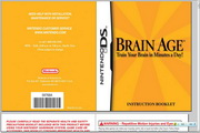 任天堂 Brain Age: Train Your Brain in Minutes a Day说明书