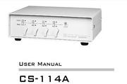 宏正CS-114A说明书