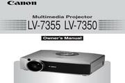 Canon佳能LV-7350投影仪 英文版说明书