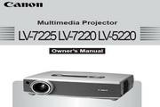 Canon佳能LV-7225投影仪 英文版说明书