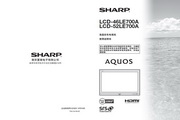 夏普 LCD-46LE700A液晶彩电 使用说明书