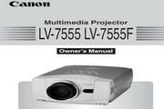 Canon佳能LV-7555投影仪 英文版说明书