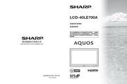 夏普 LCD-40LE700A液晶彩电 使用说明书