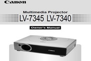 Canon佳能LV-7340投影仪 英文版说明书