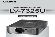 Canon佳能LV-7325投影仪 英文版说明书