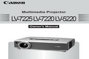Canon佳能LV-7220投影仪 英文版说明书