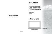 夏普 LCD-32D30WH液晶彩电 使用说明书