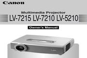 Canon佳能LV-7215投影仪 英文版说明书
