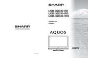 夏普 LCD-32D30RD液晶彩电 使用说明书
