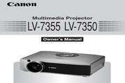 Canon佳能LV-7355投影仪 英文版说明书