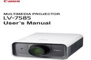 Canon佳能LV-7585投影仪 英文版说明书
