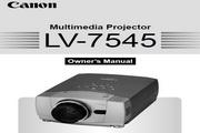 Canon佳能LV-7545投影仪 英文版说明书
