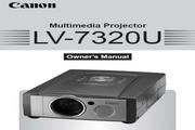 Canon佳能LV-7320投影仪 英文版说明书