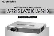 Canon佳能LV-7210投影仪 英文版说明书