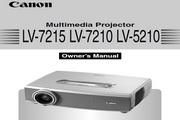 Canon佳能LV-5210投影仪 英文版说明书