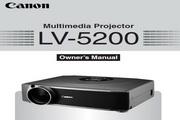 Canon佳能LV-5200投影仪 英文版说明书