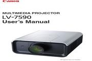 Canon佳能LV-7590投影仪 英文版说明书