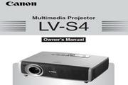 Canon佳能LV-S4投影仪 英文版说明书