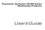 Epson爱普生PowerLite 78投影仪 英文版说明书