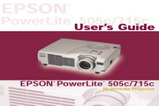 Epson爱普生PowerLite 505c投影仪 英文版说明书