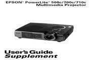 Epson爱普生PowerLite 700c投影仪 英文版说明书