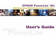 Epson爱普生PowerLite 30c投影仪 英文版说明书