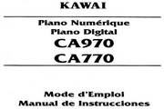 卡瓦依CA970/770 (French)说明书