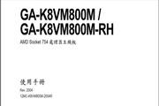 Gigabyte技嘉GA-K8VM800M主板说明书