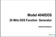B&K 4040DDS说明书
