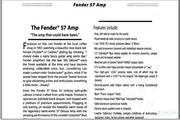 Fender 57 Amp说明书