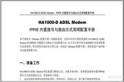 港湾网络HA1000-D ADSL Modem PPPOE内置拨号与路由方式简明配置手册说明书