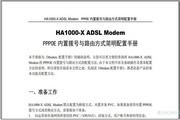 港湾网络HA1000-X ADSL Modem PPPOE内置拨号与路由方式简明配置手册说明书