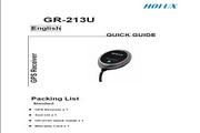 HOLUX GR-213U Quick Guide说明书