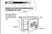 迪堡FJB-QB-3020防盗保险柜英文说明书