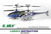 易思凯LAMA V4(2.4G)直升机说明书