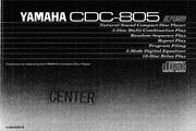 雅马哈CDC-805英文说明书