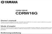 雅马哈CDRW16G英文说明书