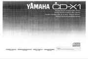 雅马哈CD-X1英文说明书
