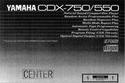 雅马哈CDX-550英文说明书