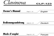 雅马哈CLP-123英文说明书