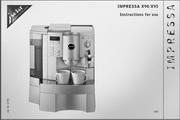 JURA IMPRESSA X95咖啡机 英文使用手册