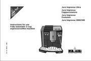 JURA IMPRESSA CAPPUCCINATORE咖啡机 英文使用手册