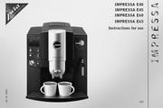 JURA IMPRESSA E40咖啡机 英文使用手册