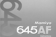 Mamiya 645 AF数码相机说明书