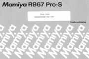Mamiya RB67 Pro-S数码相机说明书