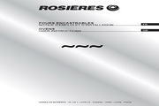 法国Rosieres RFS9759PIN型电焗炉 英文说明书