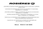 法国Rosieres RDCV49MIN型蒸煮焗炉 英文说明书
