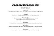 法国Rosieres FE9163型特大焗炉 英文说明书